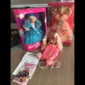 Two NWT Vintage Happy Birthday Barbies and a set